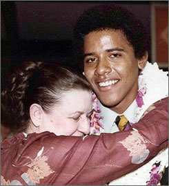 Obama with his grandmother Madelyn Dunham
