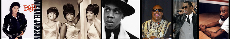 Michael Jackson, The Supremes, Jay-Z, Stevie Wonder, P Diddy, Tupac Shakur